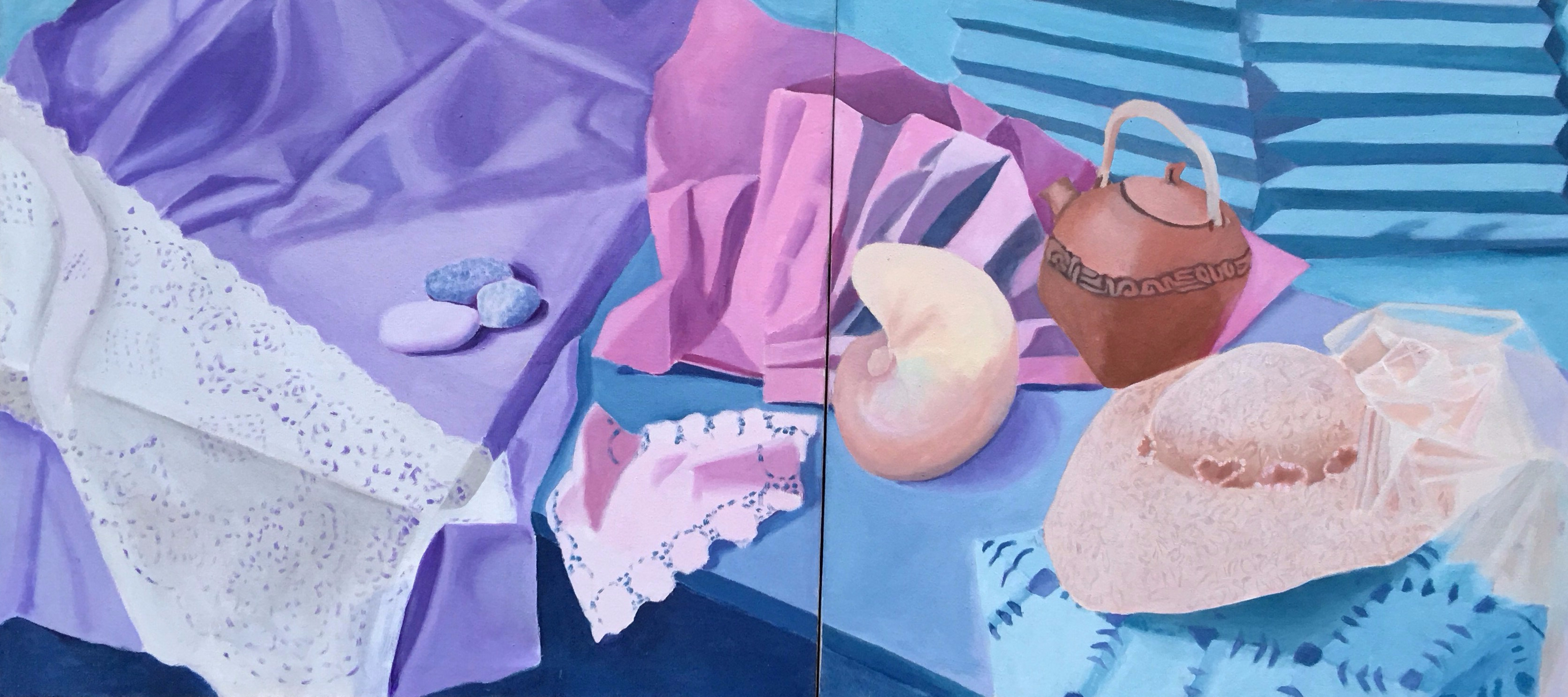 Still-Life with Teapot Diptych