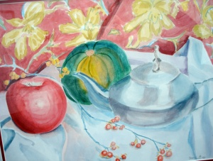 teapot apple, and squash